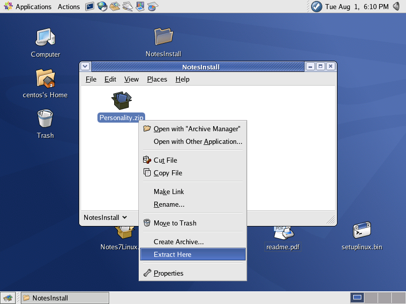 Installing the Lotus Notes 7 01 Linux Client