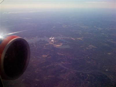 Flying home over a nuclear power plant?
