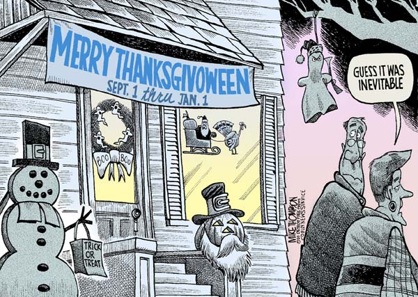 Merry Thanksgivoween, by Mike Thompson